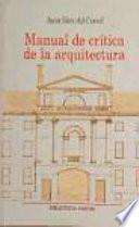 libro Manual De Crítica De La Arquitectura