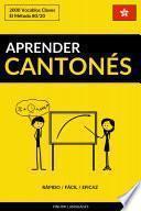 libro Aprender Cantonés - Rápido / Fácil / Eficaz