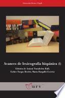 libro Avances De Lexicografía Hispánica