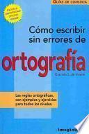 libro Como Escribir Sin Errores De Ortografia / How To Write Without Spelling Errors