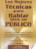 libro Las Mejores Tecnicas Para Hablar Bien En Publico / The Best Techniques To Speak Well In Public
