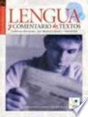 libro Lengua Y Comentario De Textos