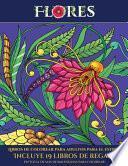 libro Libros De Colorear Para Adultos Para El Estrés (flores)