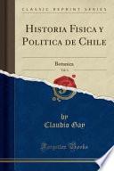 libro Historia Fisica Y Politica De Chile, Vol. 3