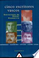 libro Cinco Escritores Vascos