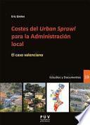 libro Costes Del  Urban Sprawl  Para La Administración Local
