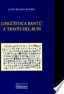 libro Lingüística Bantú A Través Del Bubi