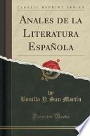 libro Anales De La Literatura Española (classic Reprint)