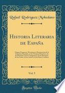 libro Historia Literaria De España, Vol. 5