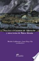libro Para Leer El Guzmán De Alfarache