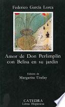 libro Amor De Don Perlimplín Con Belisa En Su Jardín