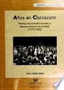 libro Años En Claroscuro