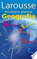 libro Diccionario Esencial Geografía