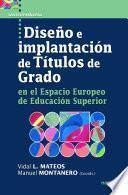 libro Diseño E Implantación De Títulos De Grado En El Espacio Europeo De Educación Superior