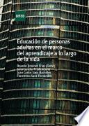 libro Educación De Personas Adultas En El Marco Del Aprendizaje A Lo Largo De La Vida