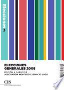 libro Elecciones Generales 2008