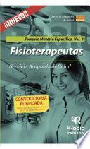 libro Fisioterapeutas. Temario Materia Específica. Volumen 4. Servicio Aragonés De Salud