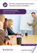 libro Impartición De Acciones Formativas Para El Empleo. Ssce0110