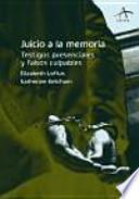 libro Juicio A La Memoria