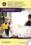 libro Organización De Acciones Socioeducativas Dirigidas A Jóvenes En El Marco De La Educación No Formal. Ssce0109