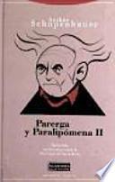 libro Parerga Y Paralipómena