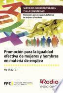 libro Promoción Para La Igualdad Efectiva De Mujeres Y Hombres En Materia De Empleo