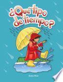 libro ¿qué Tipo De Tiempo? (what Kind Of Weather?)