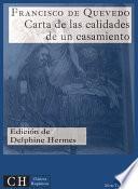 libro Carta De Las Calidades De Un Casamiento