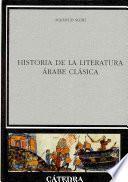 libro Historia De La Literatura árabe Clásica