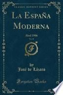 libro La España Moderna, Vol. 18