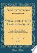 libro Obras Completas De Curros Enríquez, Vol. 4