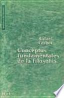 libro Conceptos Fundamentales De La Filosofía