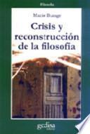 libro Crisis Y Reconstrucción De La Filosofía