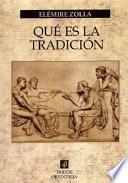 libro Qué Es La Tradición