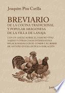 libro Breviario De La Cocina Tradicional Y Popular Aragonesa De La Villa De Lanaja