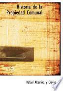 libro Historia De La Propiedad Comunal