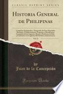 libro Historia General De Philipinas, Vol. 12