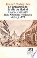 libro La Población De La Villa De Madrid