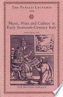 libro Music, Print And Culture In Early Sixteenth Century Italy