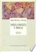 libro Poesía Completa Y Prosas