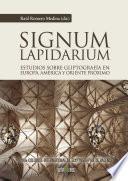 libro Signum Lapidarium. Estudios Sobre Gliptografía En Europa Y Oriente Próximo