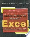 libro Análisis De Datos Con Microsoft Excel