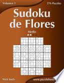 libro Sudoku De Flores   Medio   Volumen 3   276 Puzzles