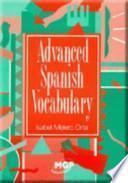 libro Advanced Spanish Vocabulary