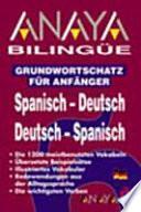 libro Anaya Bilingüe Español Alemán/alemán Español