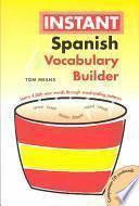 libro Instant Spanish Vocabulary Builder