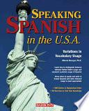 libro Speaking Spanish In The U.s.a.