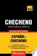 libro Vocabulario Español Checheno   9000 Palabras Más Usadas
