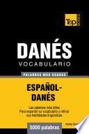 libro Vocabulario Español Danés   5000 Palabras Más Usadas