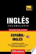 libro Vocabulario Español Inglés Americano   9000 Palabras Más Usadas